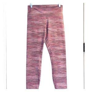 Lululemon Pink Striped Crop Wunder Under.